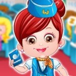 Baby Hazel Stewardess